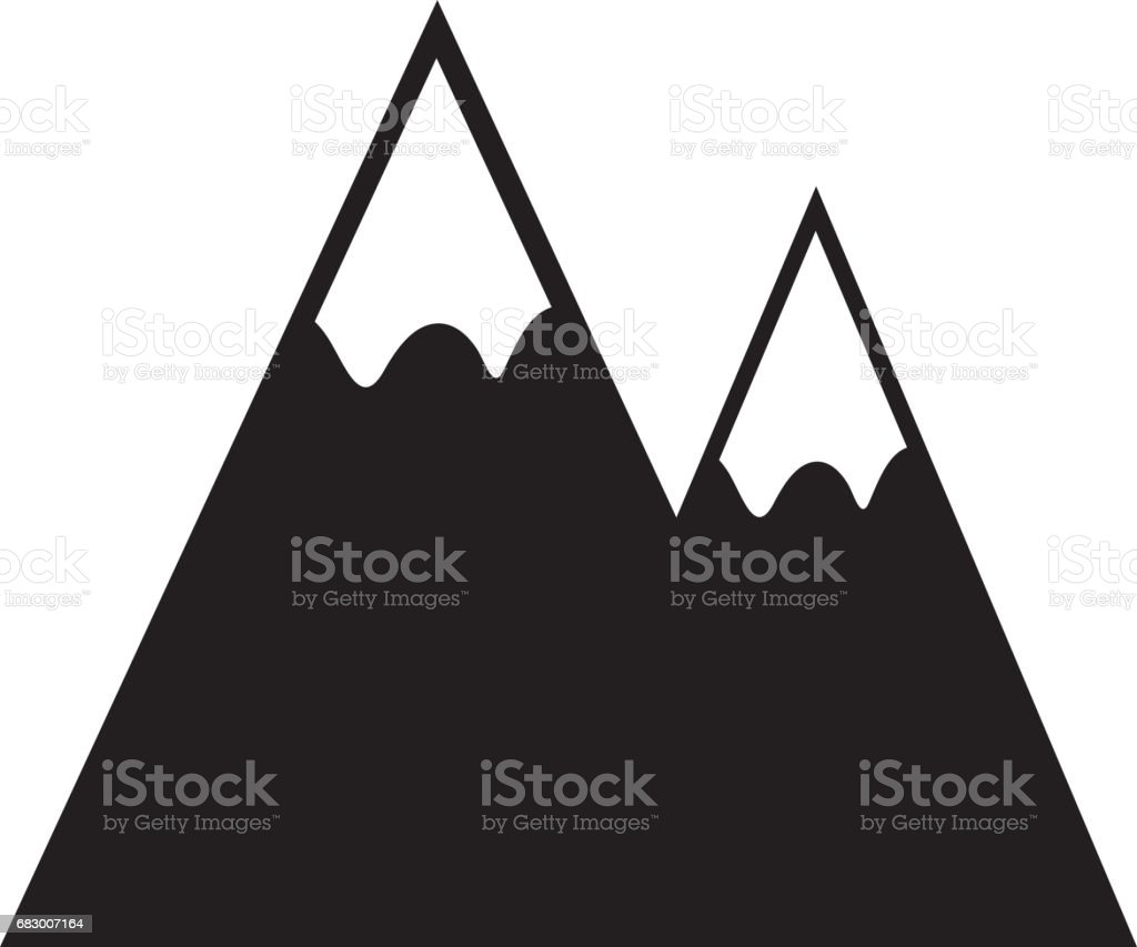 Mountains landscape symbol royalty-free mountains landscape symbol stock vector art & more images of adventure