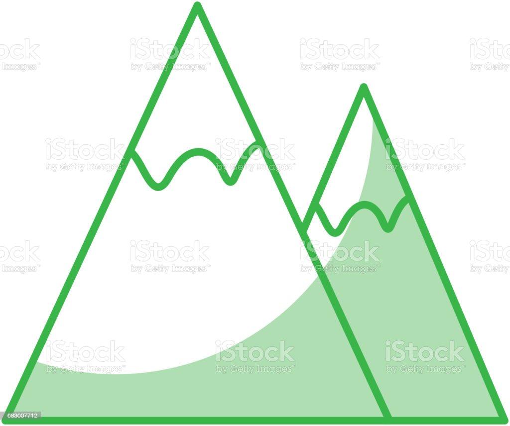Mountains landscape symbol mountains landscape symbol - arte vetorial de stock e mais imagens de alpes marítimos royalty-free