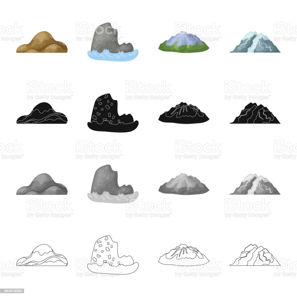Mountains, nature, stone and other web icon in cartoon style.Material, building, tops icons in set collection. royalty-free mountains nature stone and other web icon in cartoon stylematerial building tops icons in set collection stock illustration - download image now