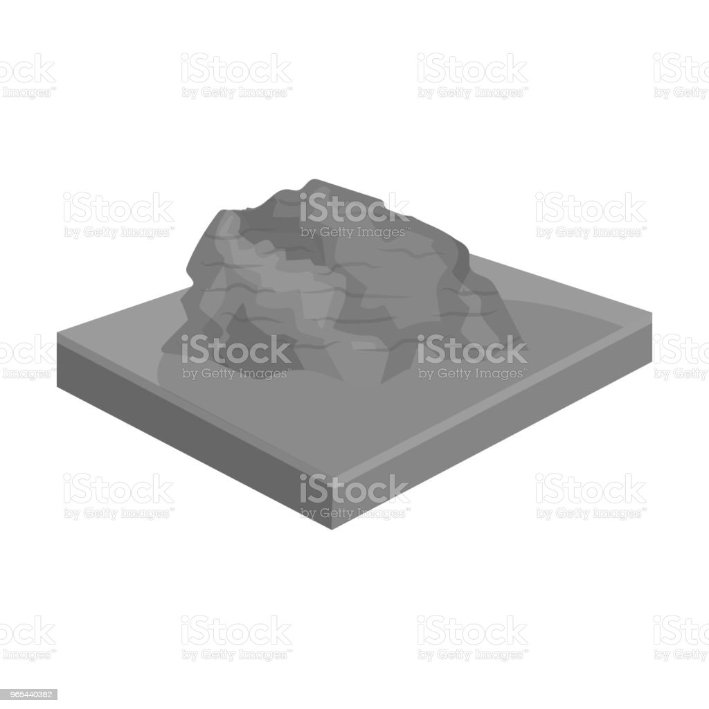 Mountains, rocks and landscape. Relief and mountains single icon in monochrome style isometric vector symbol stock illustration web. mountains rocks and landscape relief and mountains single icon in monochrome style isometric vector symbol stock illustration web - stockowe grafiki wektorowe i więcej obrazów bez ludzi royalty-free