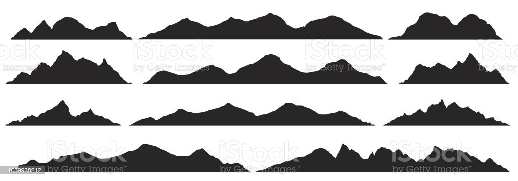 Silhouettes des montagnes. Vector. - Illustration vectorielle