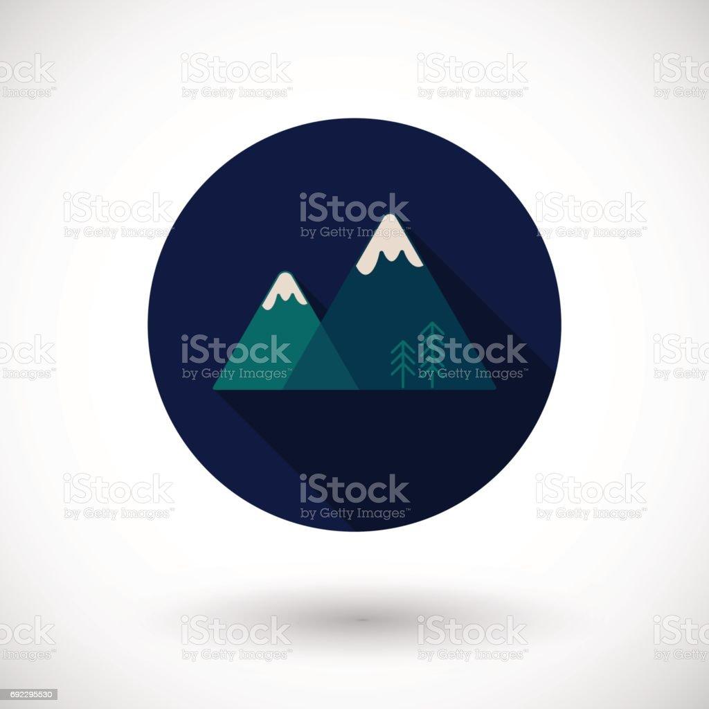 Mountains vector icon vector art illustration