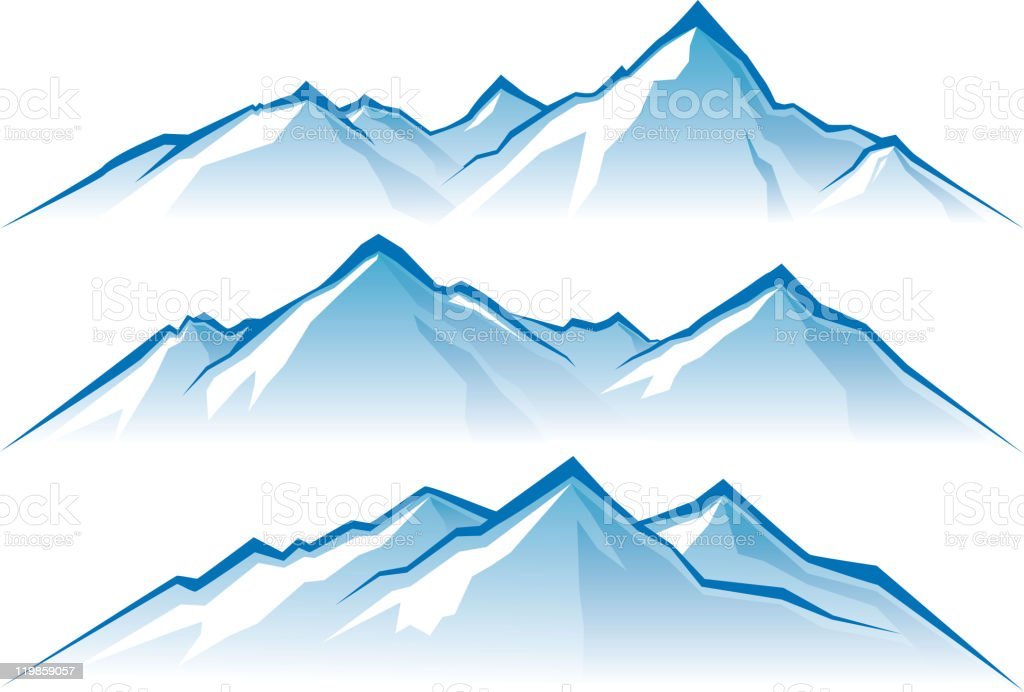mountains royalty-free mountains stock vector art & more images of blue