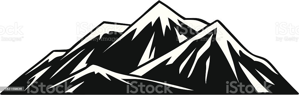 Mountains royalty-free stock vector art