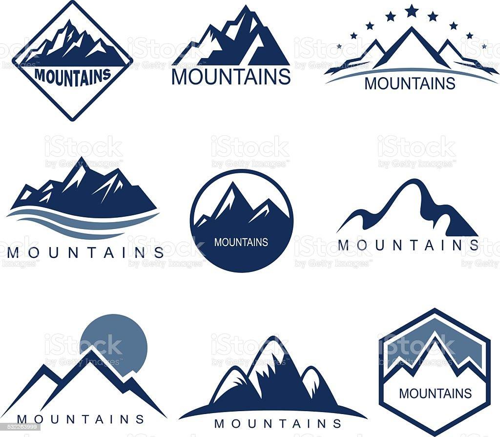 Mountains vector art illustration