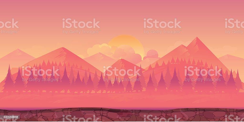 Mountains Vector illustration vector art illustration