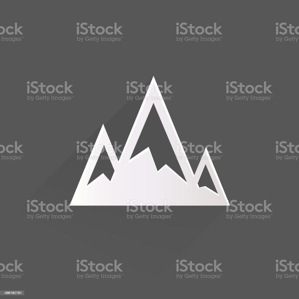 Mountains web icon royalty-free stock vector art