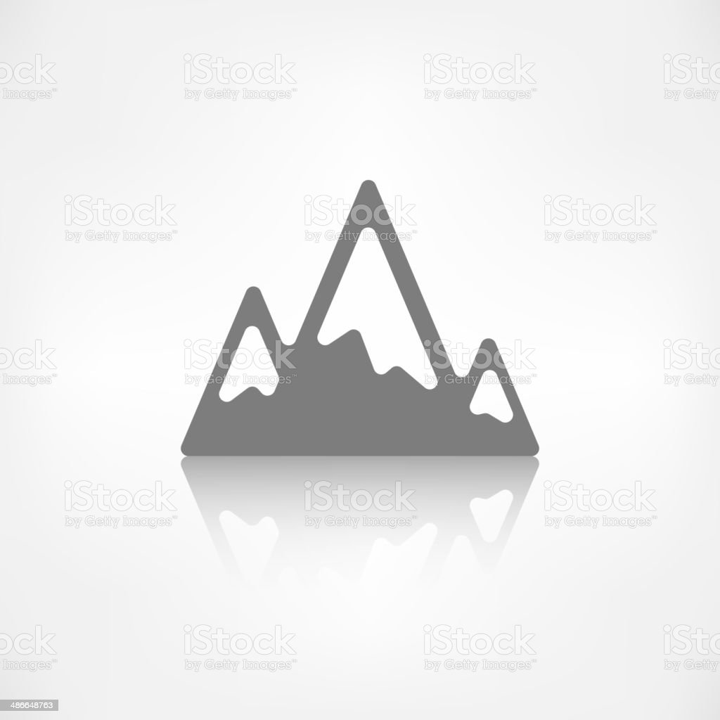 Mountains web icon vector art illustration