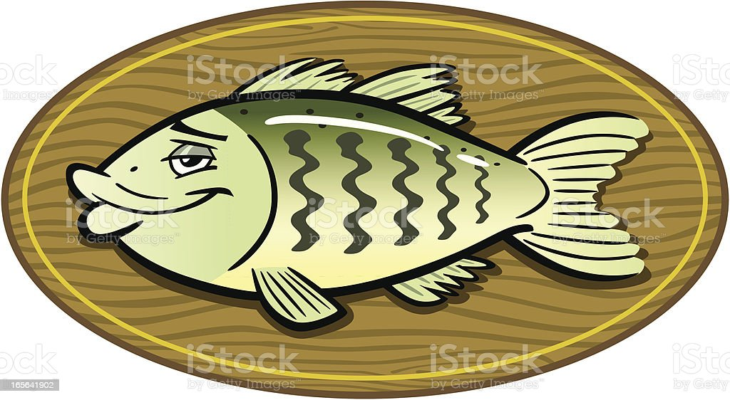 Mounted Bass Fish royalty-free mounted bass fish stock vector art & more images of animal