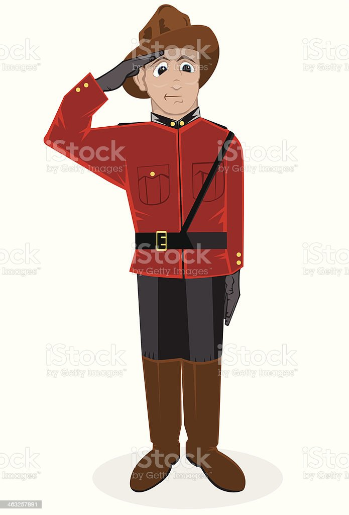 Mountie vector art illustration