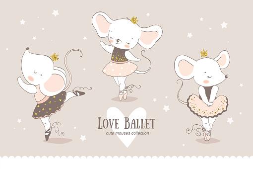 mouse ballerina collection