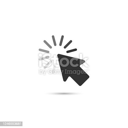 istock Mouse Click Pointer and Loading Vector Design. 1246553681