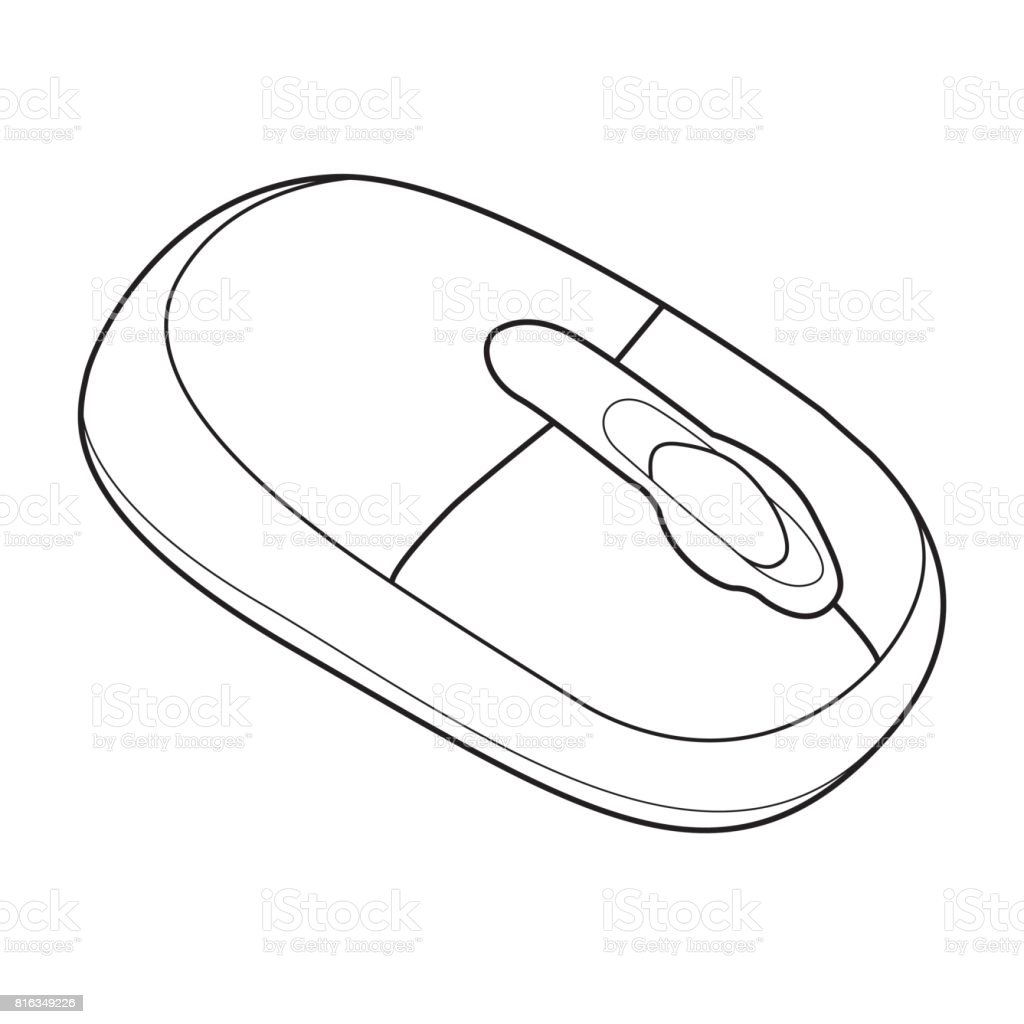 Drawing Lines With Mouse In Java : Ilustración de equipo ratón fuera línea vector y más banco