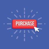 Mouse cursor clicks the purchase button