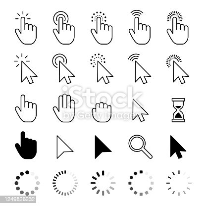 Mouse Cursor Icons - Vector stock illustration