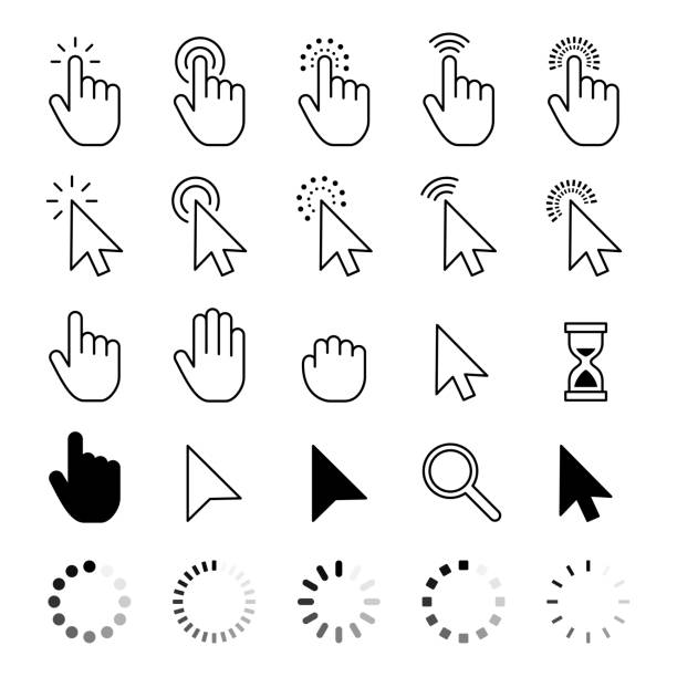 Mouse Cursor Icons - Vector stock illustration Mouse Cursor Icons - Vector stock illustration mouse stock illustrations