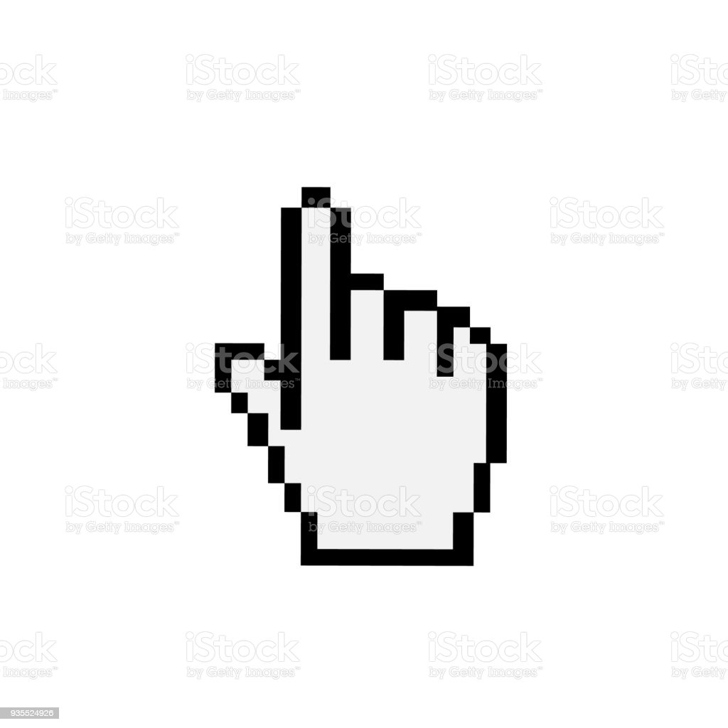 mouse hand cursor vector illustration stock vector art more images rh istockphoto com computer hand cursor vector computer hand cursor vector