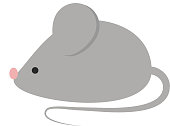 Mouse isolated vector illustration.