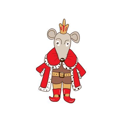 Mouse King Christmas cartoon illustration.
