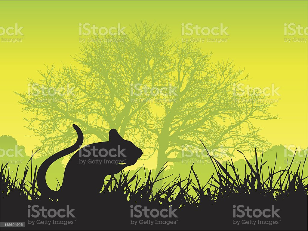 Mouse outside silhouette royalty-free stock vector art