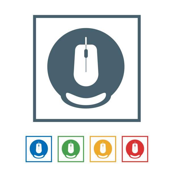 maus-pad flache symbol isolated on white background.vector abbildung symbol - mauspad stock-grafiken, -clipart, -cartoons und -symbole
