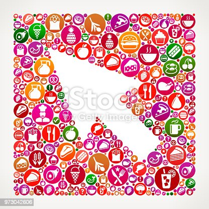 istock Mouse Pointer Food and Diet Vector Icon Background 973042606
