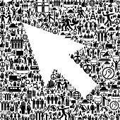 istock Mouse Pointer Protest and Civil Rights Vector Icons Background 687231792