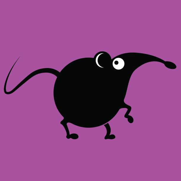 Mouse sign funny vector vector art illustration