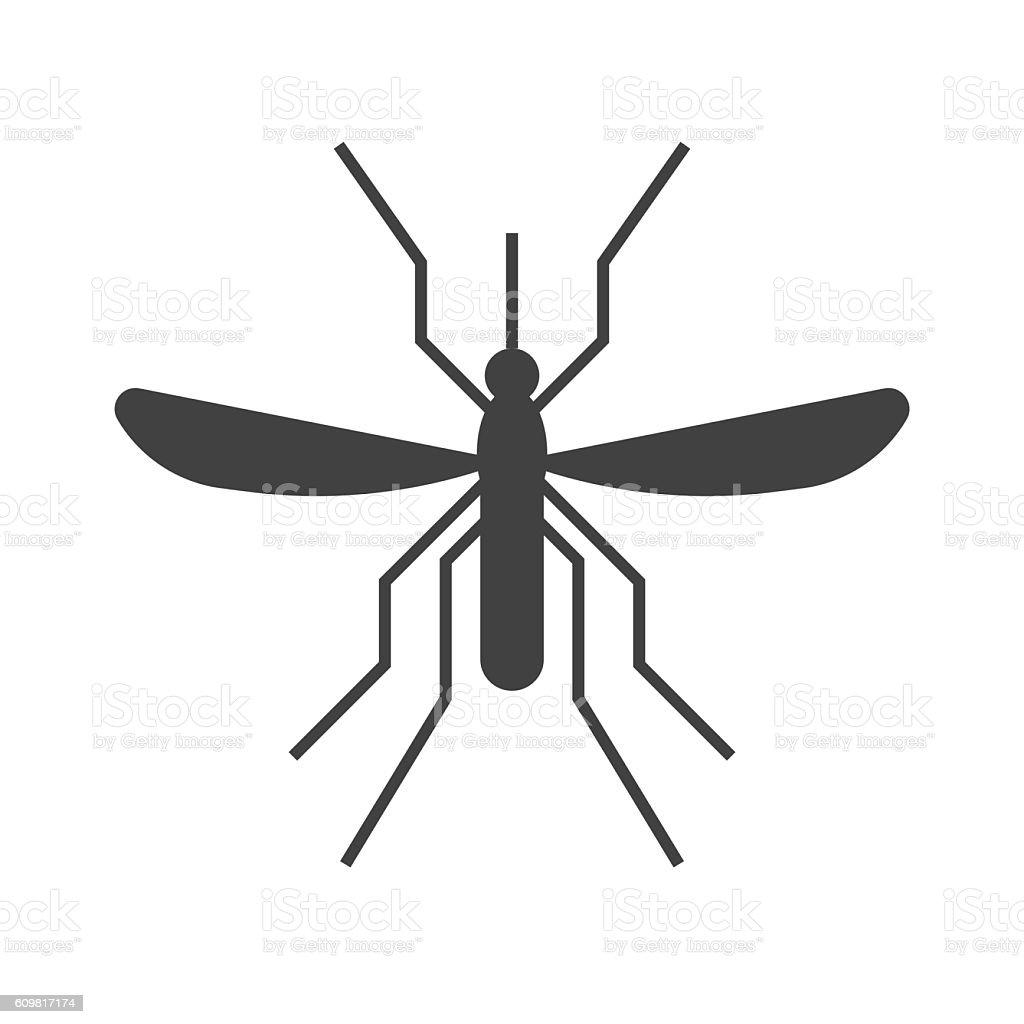 Mousquito Outline Icon vector art illustration