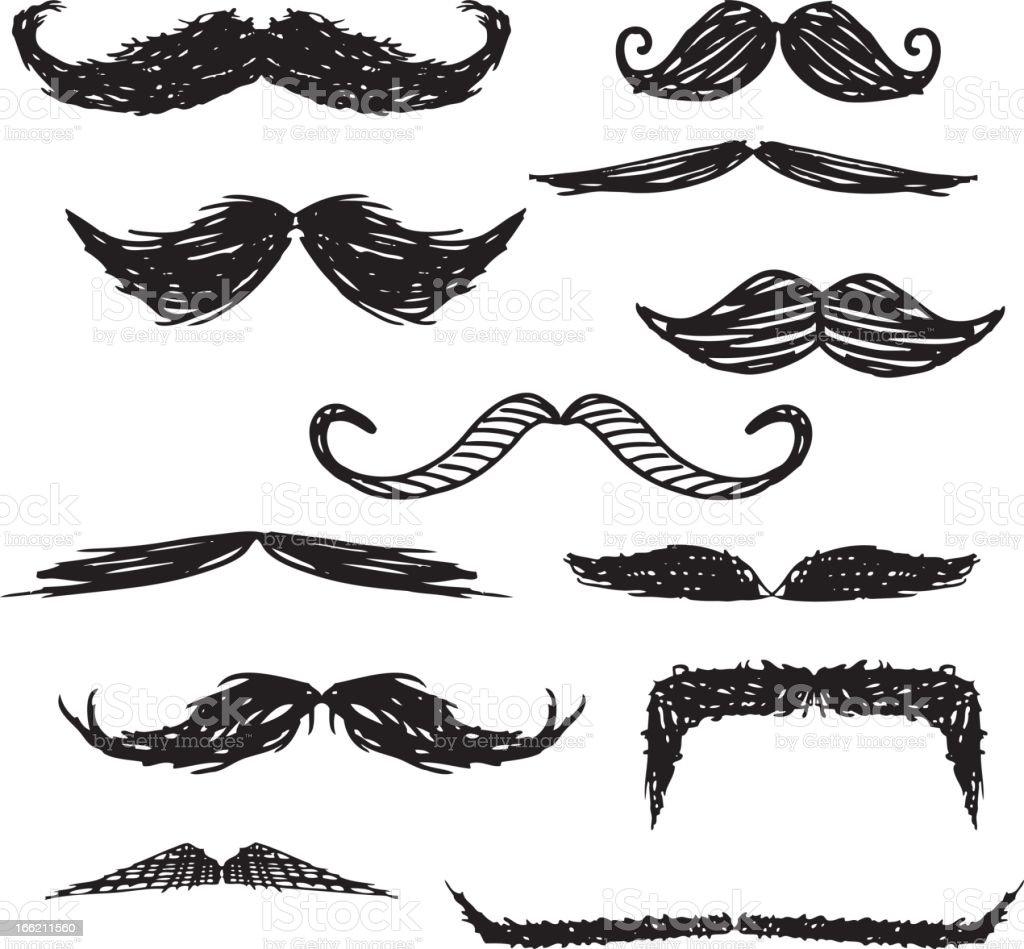 Schnurrbart und Kritzeleien – Vektorgrafik