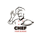 istock moustached chef design 1225873399