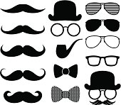 moustaches silhouettes