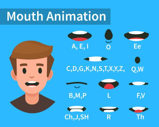mouth animation - otwór gębowy stock illustrations