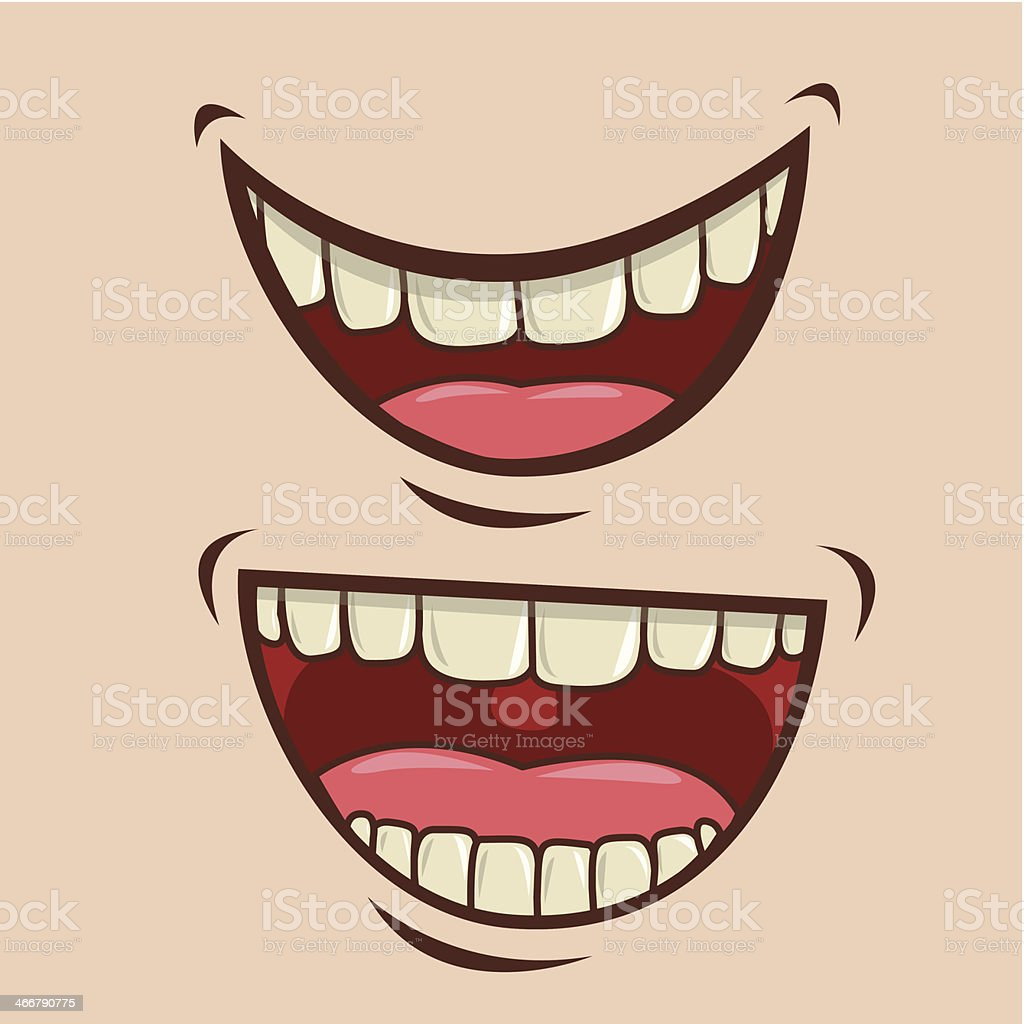 Mouth Design vector art illustration