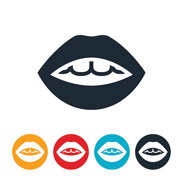 Mouth Icon vector art illustration