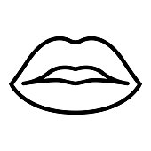 istock Mouth Line Icon, Outline Symbol Vector Illustration 1310053323