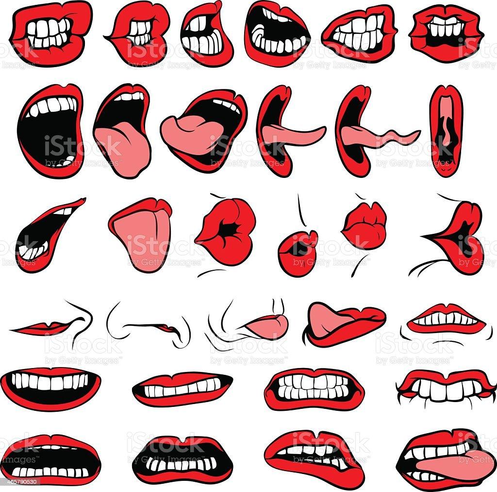 BIG Mouth vector art illustration