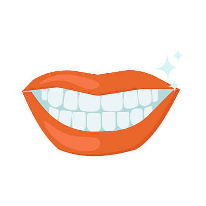 Mouth with teeth, smile with white teeth, oral care and dentistry