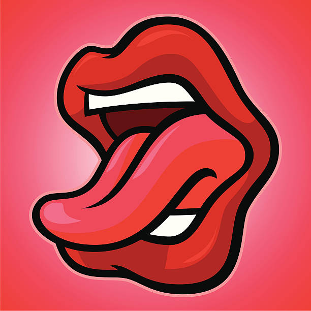 stockillustraties, clipart, cartoons en iconen met mouth_ahh - mensentong