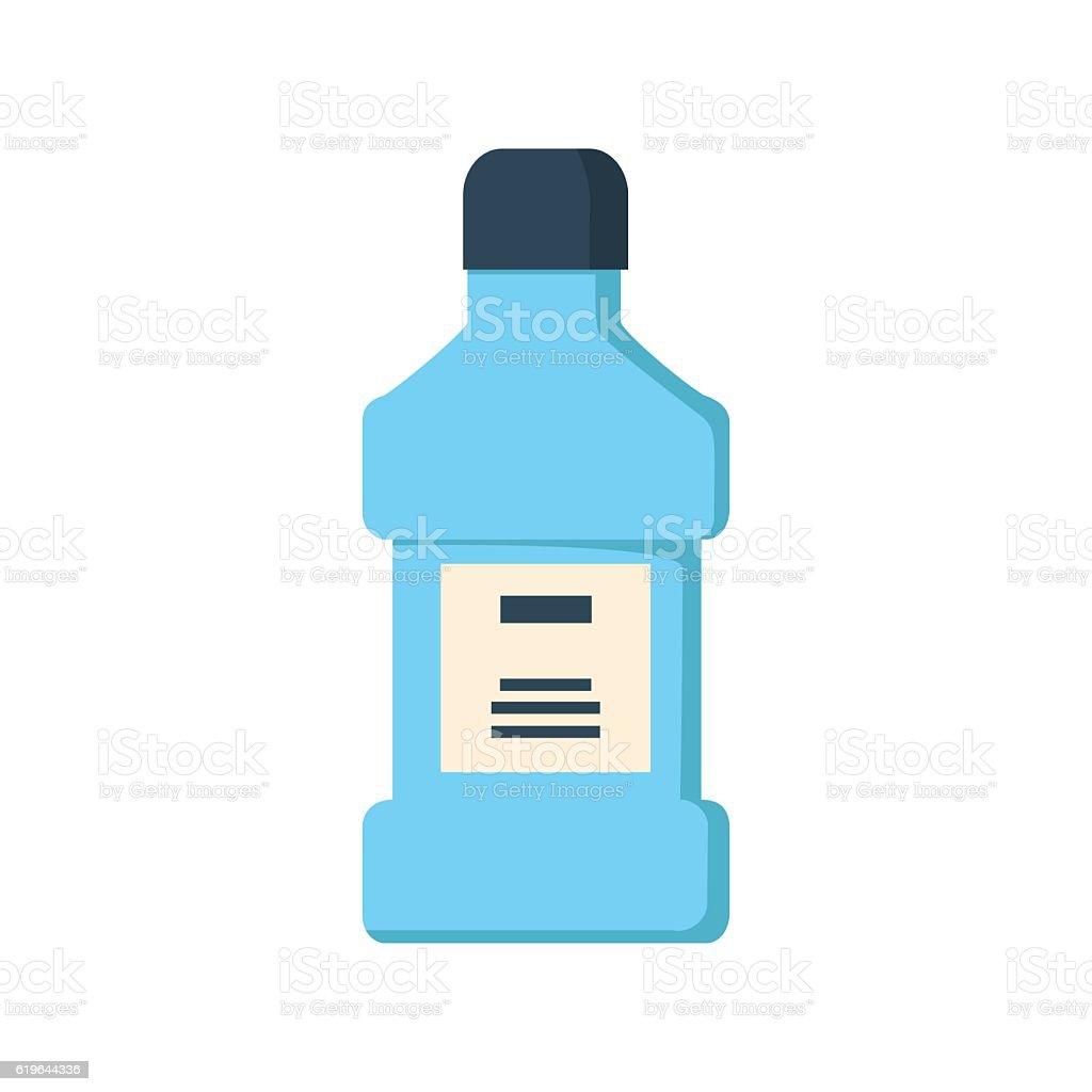 mouthwash bottle isolated vector art illustration