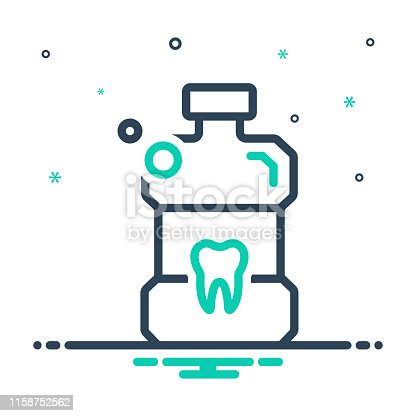 Icon for mouthwash, bottle, antiseptic, teeth, cleanliness