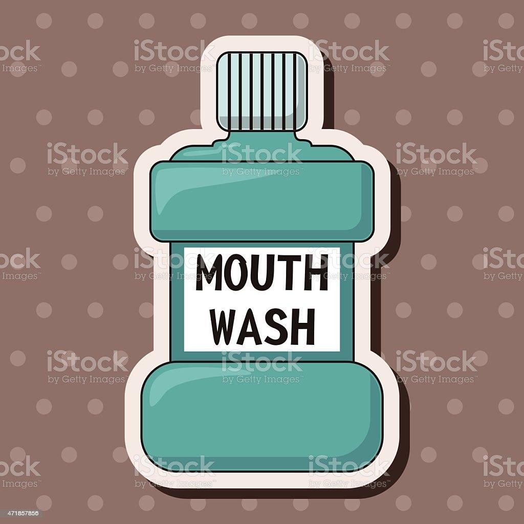 Mouthwash theme elements vector art illustration