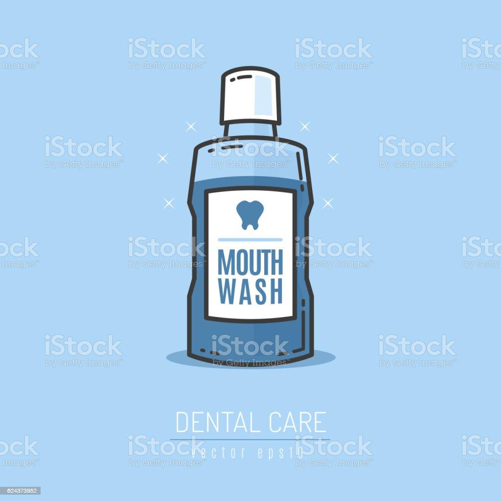 Mouthwash vector art illustration