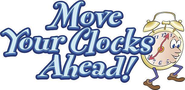 move clocks heading c - daylight savings time stock illustrations, clip art, cartoons, & icons