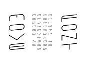 Move italic font.  Vector alphabet