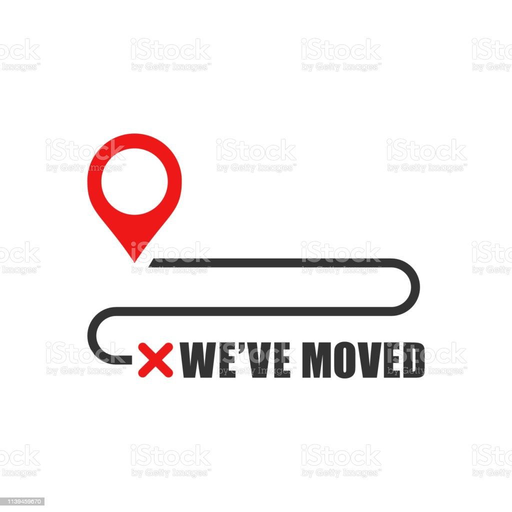 Move Location Icon In Flat Style Pin Gps Vector Illustration