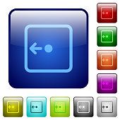 Move object left color square buttons