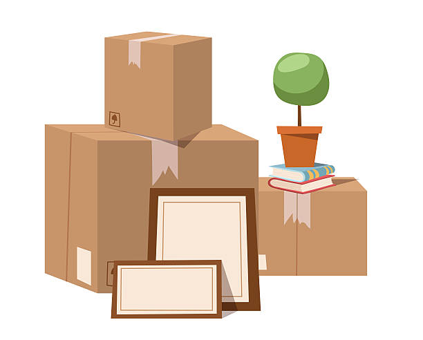 royalty free moving boxes clip art vector images illustrations istock. Black Bedroom Furniture Sets. Home Design Ideas