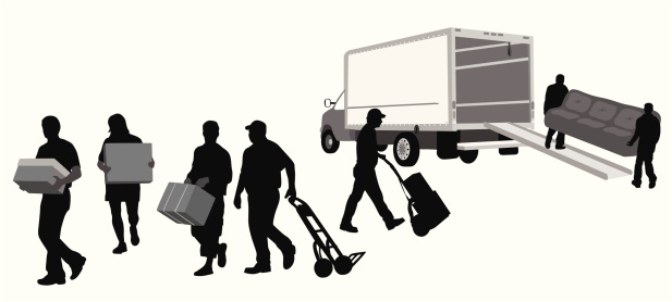 Movers Vector Silhouette