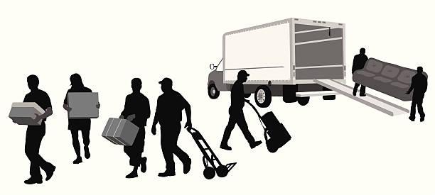 przeboje - wózek transportowy stock illustrations